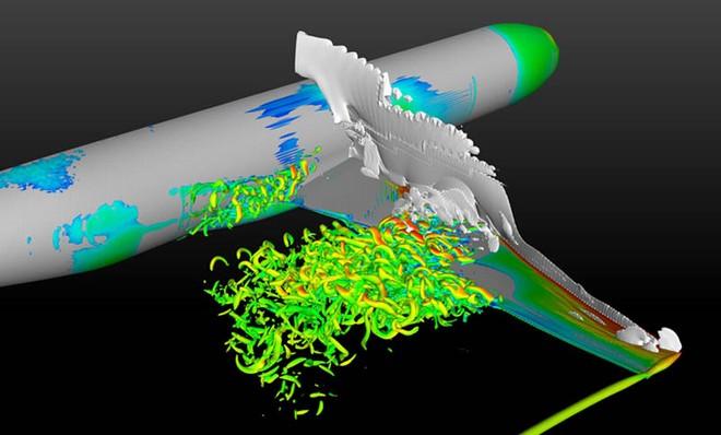 数値シミュレーション結果を可視化した画像です。