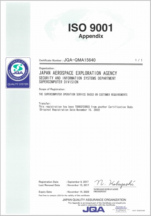 Picture: Attachment of ISO9001 Certificate