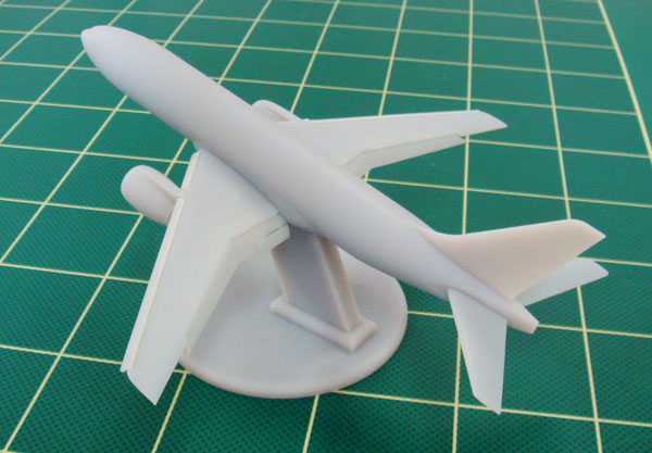 The model of aircraft made by 3d printer.