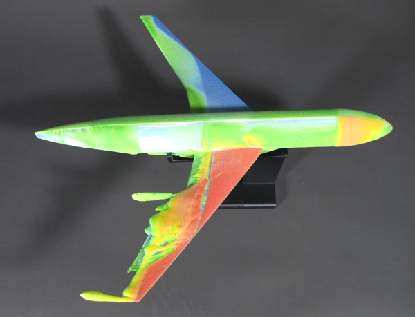 The 3D model made by 3D printer shows transonic buffet on aircraft.